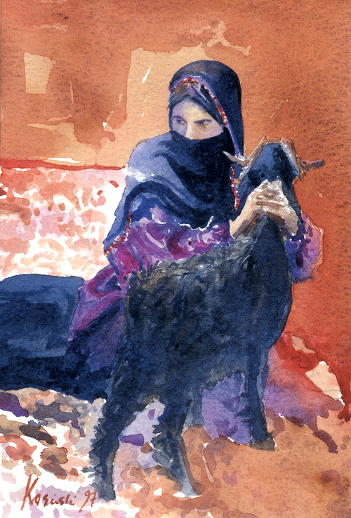 bedouin-girl-with-goat-sinai