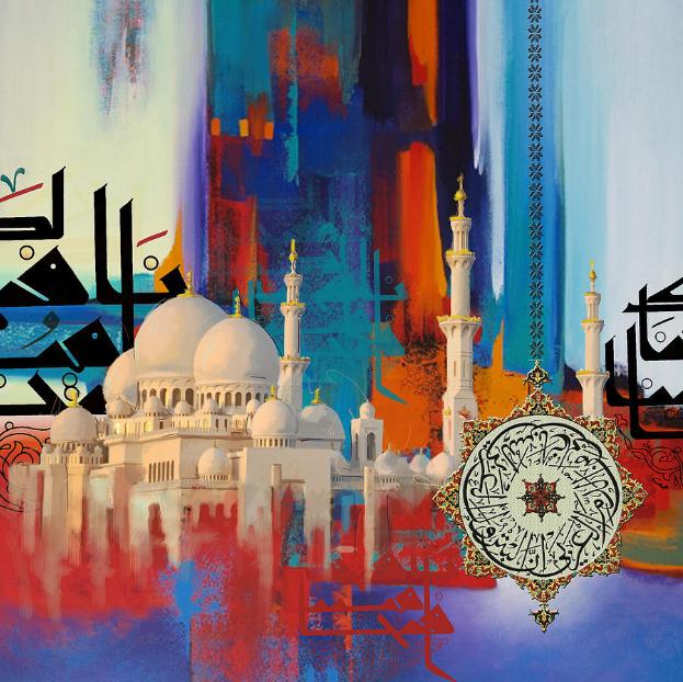 Sheikh Zayed Grand Mosque_gemalt von Corporate Art Task Force
