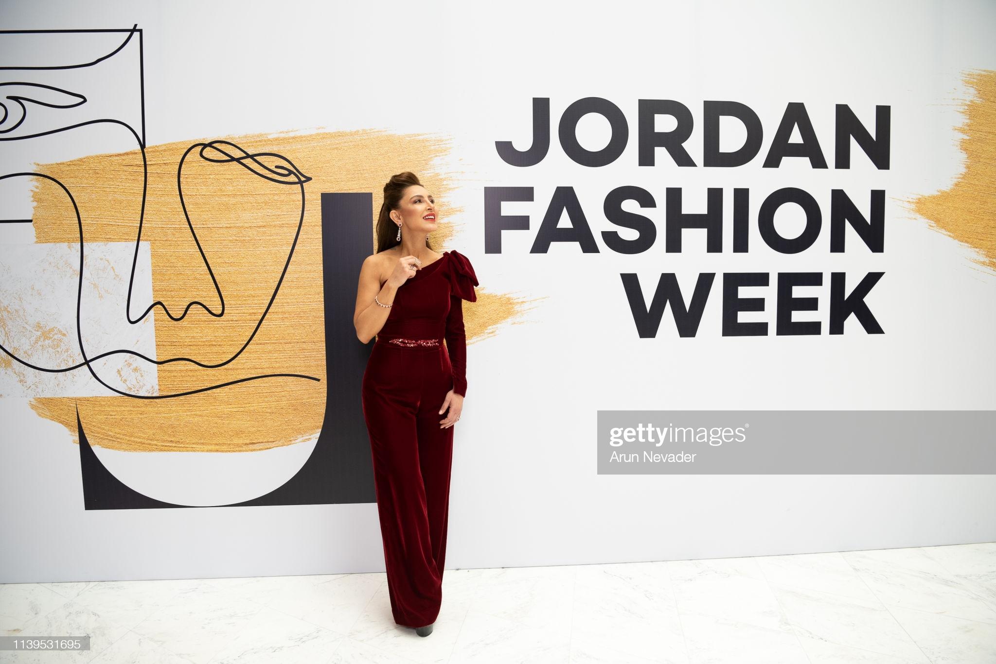 AMMAN, JORDAN - MARCH 30, 2019: Founder of Jordan Fashion Week Shirene Rifai poses for a photo during Jordan Fashion Week 019 on March 30, 2019 at the Kempinski Amman in Amman, Jordan.  (Photo by Arun Nevader/Getty Images for Jordan Fashion Week)
